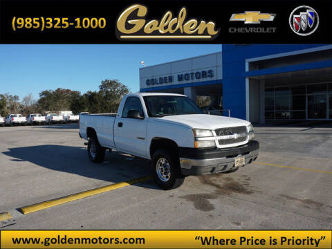 2004 Chevrolet Silverado 2500HD for sale at GOLDEN MOTORS in Cut Off LA