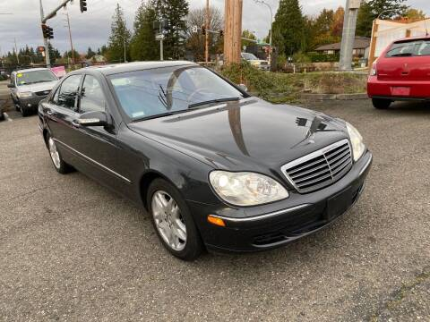 2003 Mercedes-Benz S-Class for sale at KARMA AUTO SALES in Federal Way WA