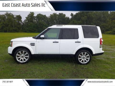2011 Land Rover LR4 for sale at East Coast Auto Sales llc in Virginia Beach VA