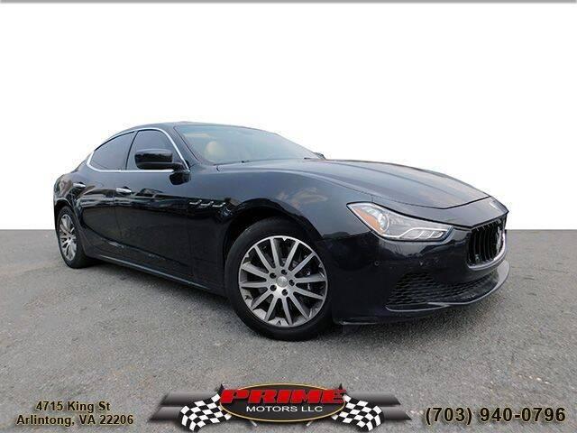 2014 Maserati Ghibli for sale at PRIME MOTORS LLC in Arlington VA