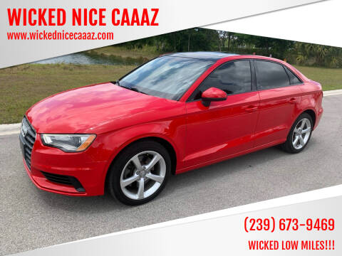 2016 Audi A3 for sale at WICKED NICE CAAAZ in Cape Coral FL