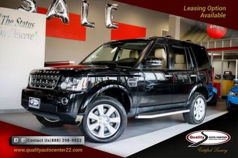 2016 Land Rover LR4 for sale at Quality Auto Center of Springfield in Springfield NJ