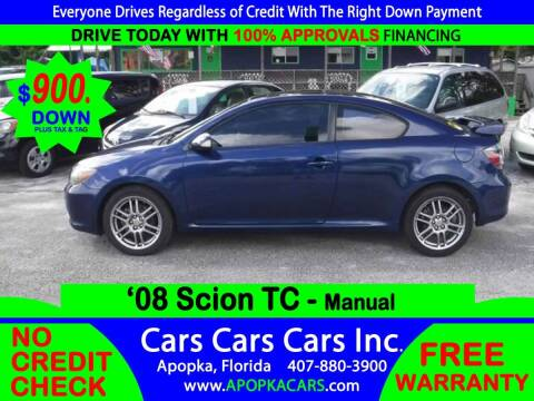 2008 Scion tC for sale at CARS CARS CARS INC in Apopka FL