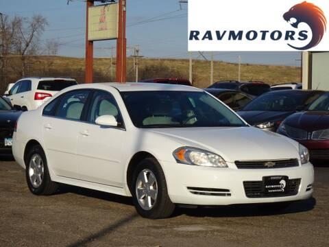 2011 Chevrolet Impala for sale at RAVMOTORS in Burnsville MN