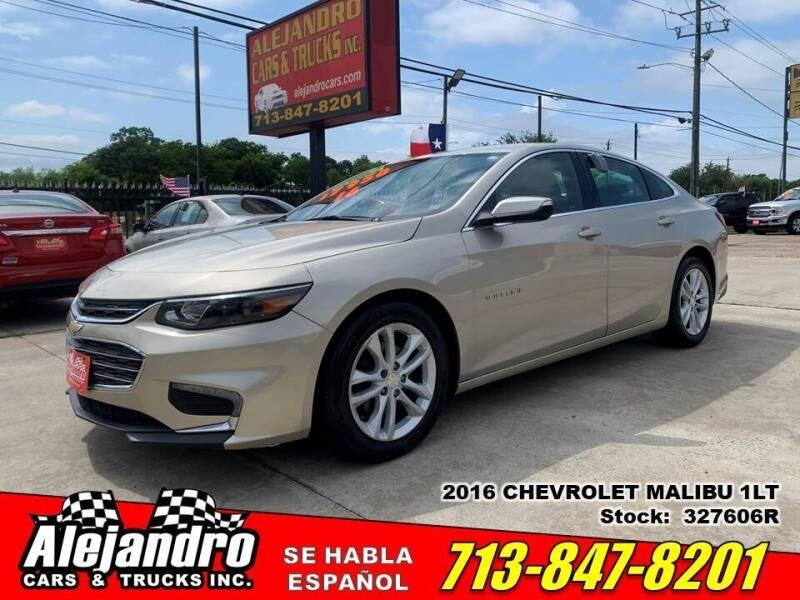 2016 Chevrolet Malibu for sale at Alejandro Cars & Trucks Inc in Houston TX