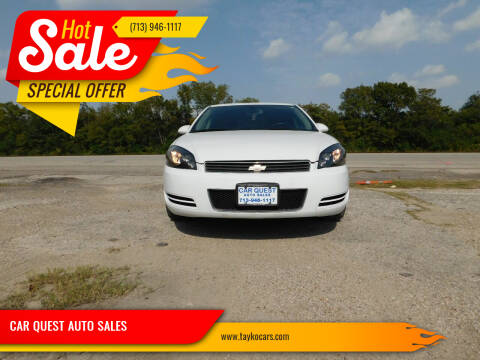 2013 Chevrolet Impala for sale at CAR QUEST AUTO SALES in Houston TX