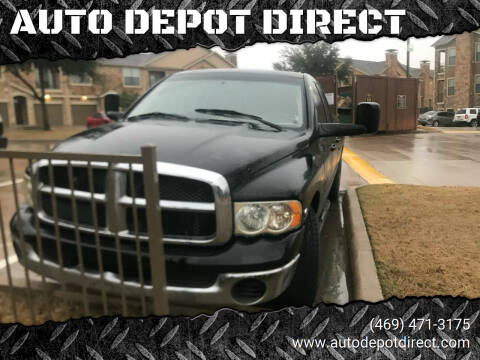 2003 Dodge Ram Pickup 3500 for sale at AUTO DEPOT DIRECT in Dallas TX