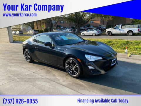 2013 Scion FR-S for sale at Your Kar Company in Norfolk VA