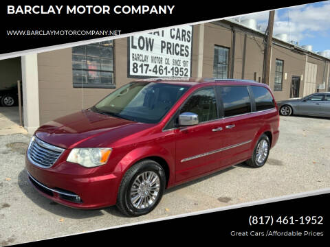 2011 Chrysler Town and Country for sale at BARCLAY MOTOR COMPANY in Arlington TX