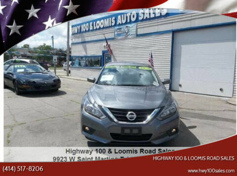 2016 Nissan Altima for sale at Highway 100 & Loomis Road Sales in Franklin WI