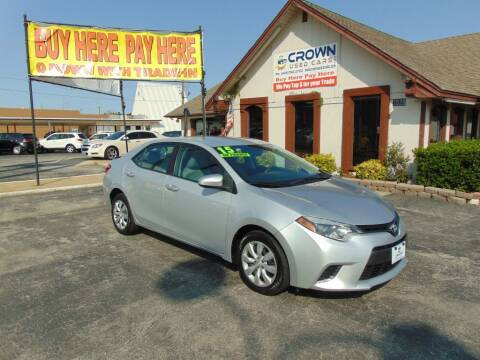 2015 Toyota Corolla for sale at Crown Used Cars in Oklahoma City OK