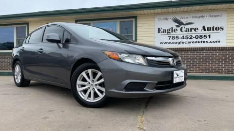 2012 Honda Civic for sale at Eagle Care Autos in Mcpherson KS