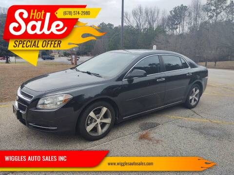 2012 Chevrolet Malibu for sale at WIGGLES AUTO SALES INC in Mableton GA