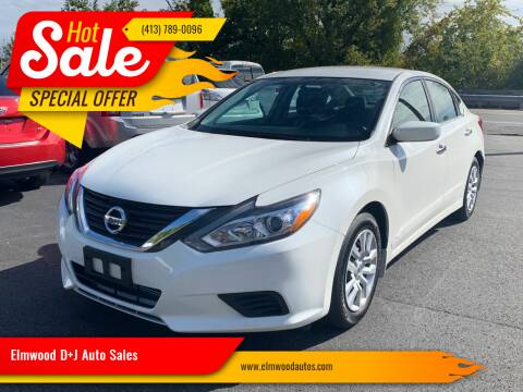2016 Nissan Altima for sale at Elmwood D+J Auto Sales in Agawam MA