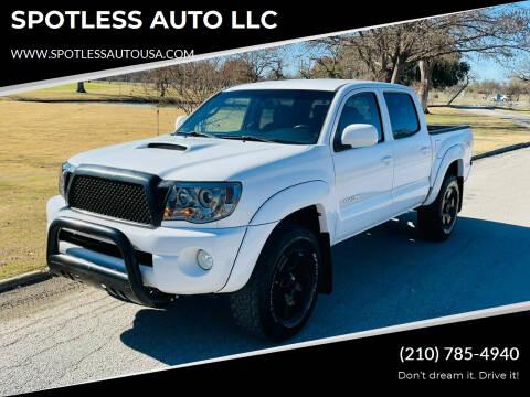 2010 Toyota Tacoma for sale at SPOTLESS AUTO LLC in San Antonio TX