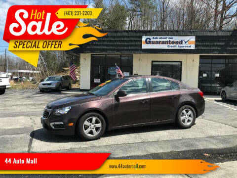 2015 Chevrolet Cruze for sale at 44 Auto Mall in Smithfield RI