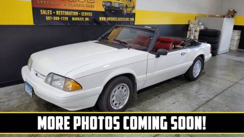 1993 Ford Mustang for sale at UNIQUE SPECIALTY & CLASSICS in Mankato MN