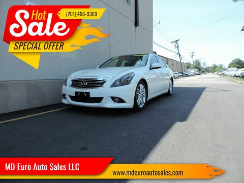 2013 Infiniti G37 Sedan for sale at MD Euro Auto Sales LLC in Hasbrouck Heights NJ