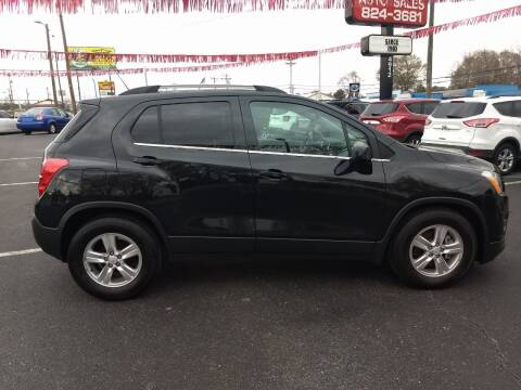 2016 Chevrolet Trax for sale at Kenny's Auto Sales Inc. in Lowell NC
