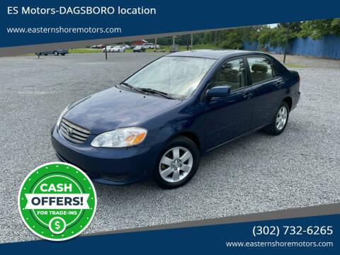 2004 Toyota Corolla for sale at ES Motors-DAGSBORO location in Dagsboro DE