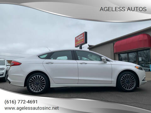 2017 Ford Fusion for sale at Ageless Autos in Zeeland MI
