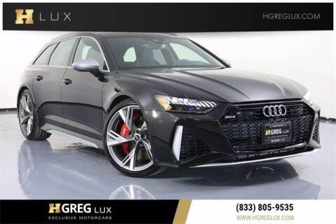2021 Audi RS 6 for sale at HGREG LUX EXCLUSIVE MOTORCARS in Pompano Beach FL