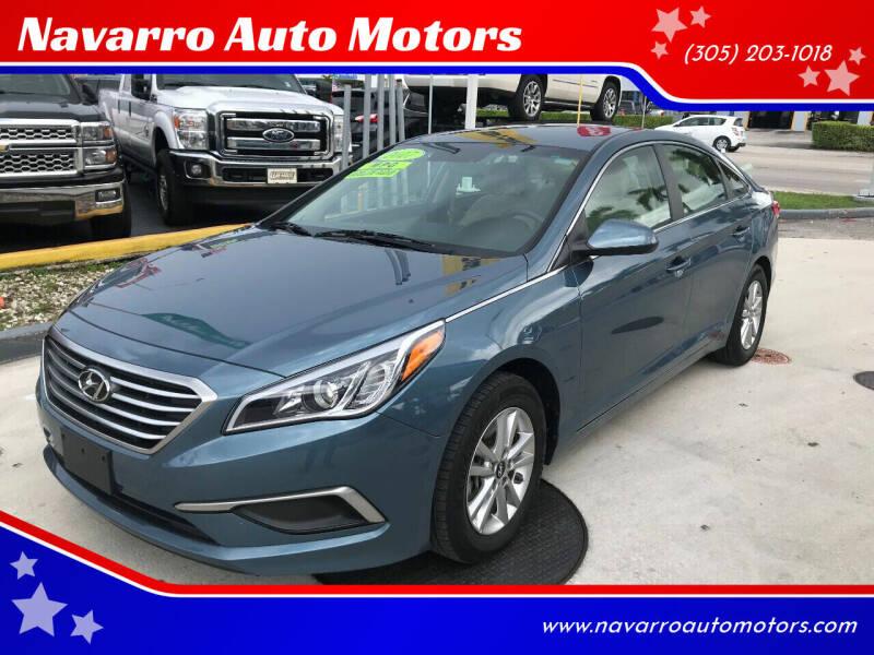 2017 Hyundai Sonata for sale at Navarro Auto Motors in Hialeah FL
