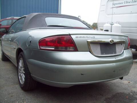 2005 Chrysler Sebring for sale at Frank Coffey in Milford NH