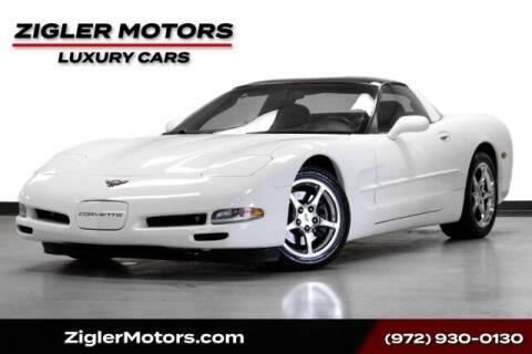 2004 Chevrolet Corvette for sale at Zigler Motors in Addison TX