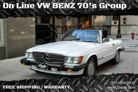 1987 Mercedes-Benz 560-Class for sale at OnLine VW-BENZ.COM Auto Group in Riverside CA