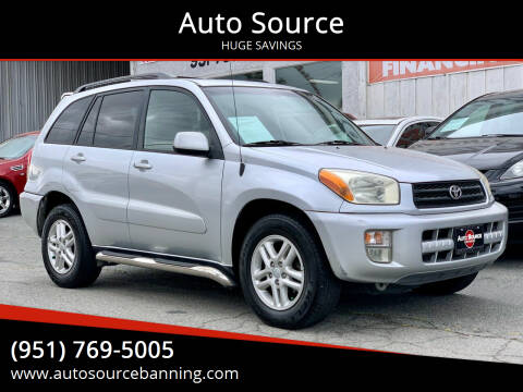 2003 Toyota RAV4 for sale at Auto Source in Banning CA