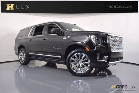 2021 GMC Yukon XL for sale at HGREG LUX EXCLUSIVE MOTORCARS in Pompano Beach FL