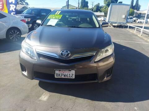 2011 Toyota Camry Hybrid for sale at Montebello Auto Sales in Montebello CA