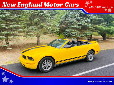 2005 Ford Mustang for sale at New England Motor Cars in Springfield MA
