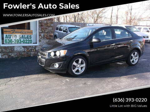 2012 Chevrolet Sonic for sale at Fowler's Auto Sales in Pacific MO