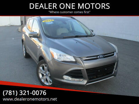 2013 Ford Escape for sale at DEALER ONE MOTORS in Malden MA