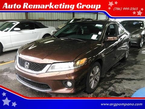 2015 Honda Accord for sale at Auto Remarketing Group in Pompano Beach FL