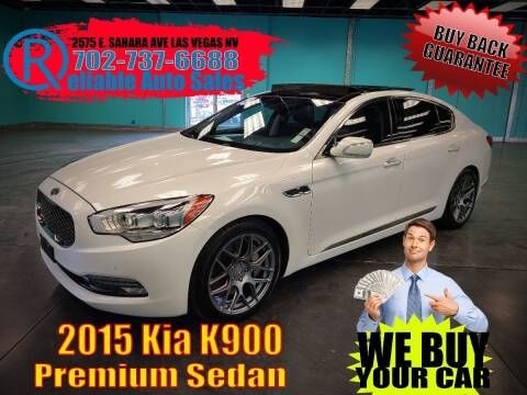 2015 Kia K900 for sale at Reliable Auto Sales in Las Vegas NV
