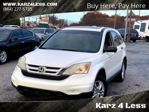 2010 Honda CR-V for sale at Karz 4 Less in Greenville SC