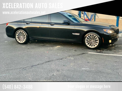 2012 BMW 7 Series for sale at XCELERATION AUTO SALES in Chester VA