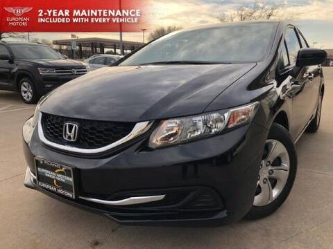 2015 Honda Civic for sale at European Motors Inc in Plano TX