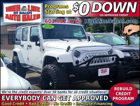 2016 Jeep Wrangler Unlimited for sale at High Line Auto Sales of Salem in Salem NH