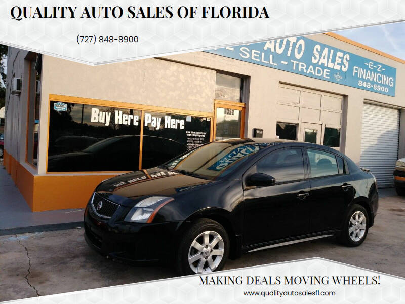 2012 Nissan Sentra for sale at QUALITY AUTO SALES OF FLORIDA in New Port Richey FL
