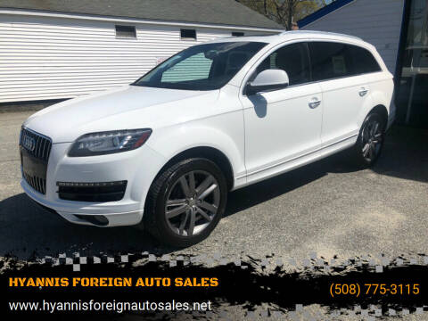 2012 Audi Q7 for sale at HYANNIS FOREIGN AUTO SALES in Hyannis MA