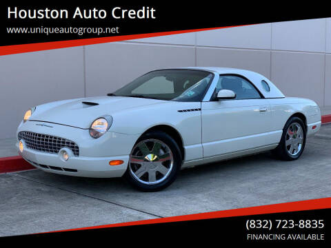 2002 Ford Thunderbird for sale at Houston Auto Credit in Houston TX