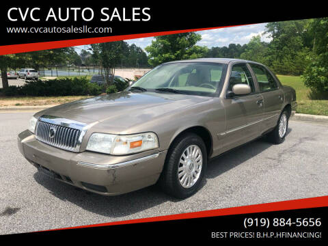 2006 Mercury Grand Marquis for sale at CVC AUTO SALES in Durham NC