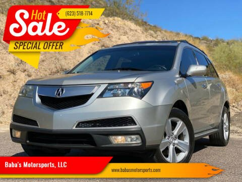 2010 Acura MDX for sale at Baba's Motorsports, LLC in Phoenix AZ