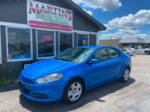 2016 Dodge Dart for sale at Martins Auto Sales in Shelbyville KY
