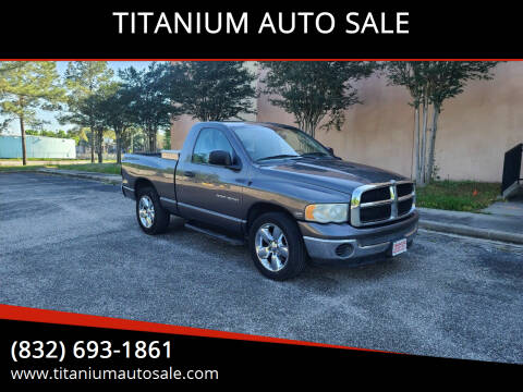 2004 Dodge Ram Pickup 1500 for sale at TITANIUM AUTO SALE in Houston TX