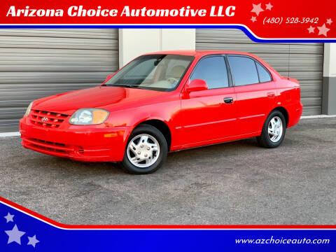 2004 Hyundai Accent for sale at Arizona Choice Automotive LLC in Mesa AZ